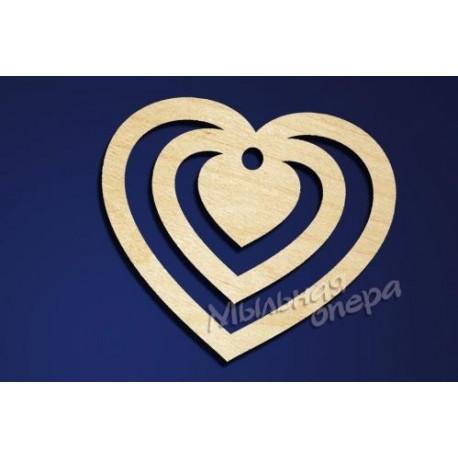 Заготовка для декупажа Бирка Сердце 16