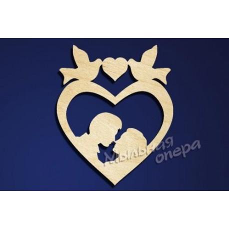 Заготовка для декупажа Бирка Сердце 17