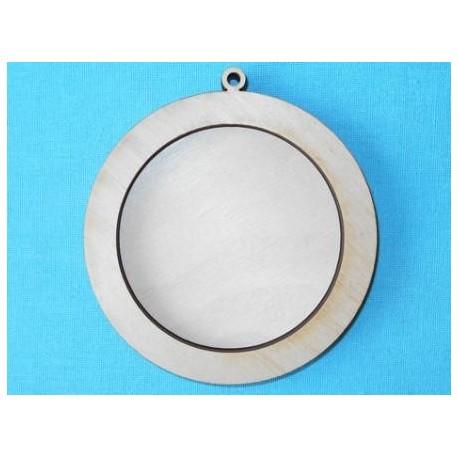 Фоторамка круглая, диаметры 7,5 и 10 см