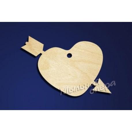 Заготовка для декупажа Бирка Сердце 21