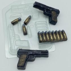 Форма ПВХ Пистолет ТТ мини