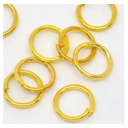 Колечки разрезные 6 мм, золото