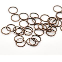 Колечки разрезные, 10 мм, медь