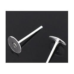 Серьги-гвоздики, цвет серебро