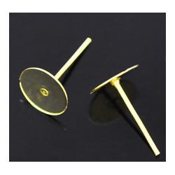 Серьги-гвоздики, цвет золото