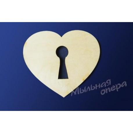 Заготовка для декупажа Бирка Сердце 05