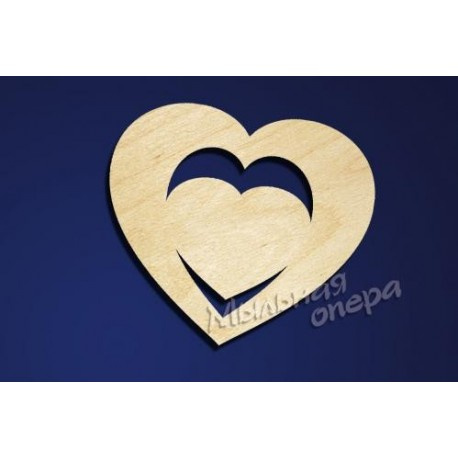 Заготовка для декупажа Бирка Сердце 06