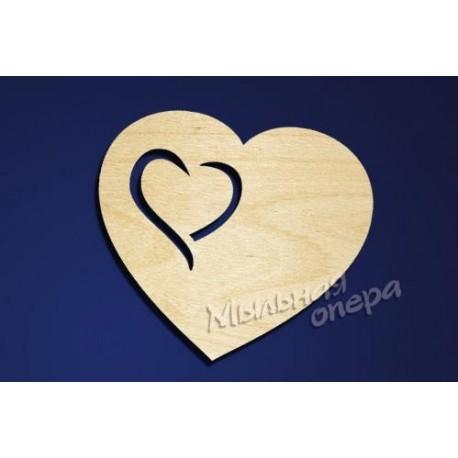 Заготовка для декупажа Бирка Сердце 10