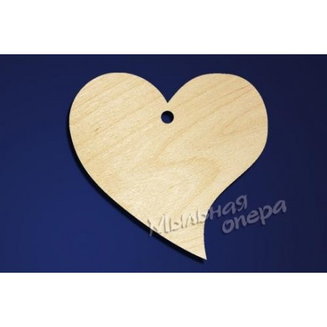 Заготовка для декупажа Бирка Сердце 12