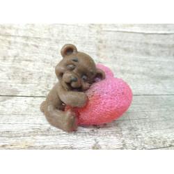 Форма 3D Мишка на сердце