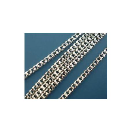 Цепочка 2х3 мм, цвет серебро, 5 м