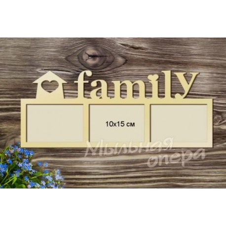 Фоторамка Family 2, размеры 20х50 см