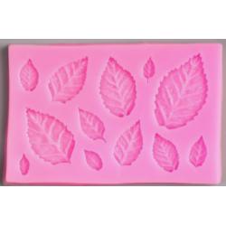 Молд силиконовый Листья берёзовые