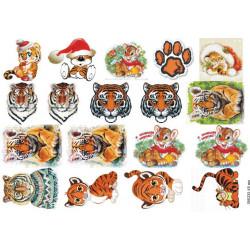 Картинки на водорастворимой бумаге 2022 Тигры