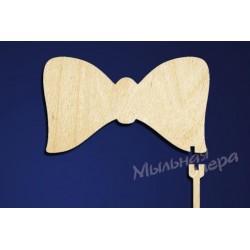 Заготовка для декупажа Карнавальная атрибутика Галстук-бабочка, размеры 7х12 см