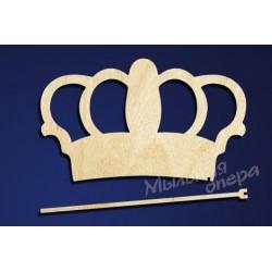 Заготовка для декупажа Карнавальная атрибутика Корона 1, размеры 15х25 см