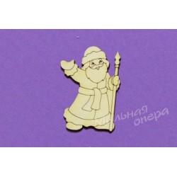 Заготовка для декупажа Бирка Дед Мороз