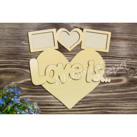 Фоторамка Love is..., размеры 30х31 см