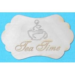 Заготовка для декупажа Бирка Tea Time