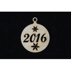 Заготовка для декупажа Бирка Новогодний шарик 2016