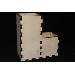 Заготовка для декупажа Карандашница двойная, размеры 8х17х18