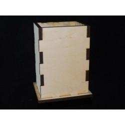 Заготовка для декупажа Карандашница одинарная, размеры 8х10х13 см
