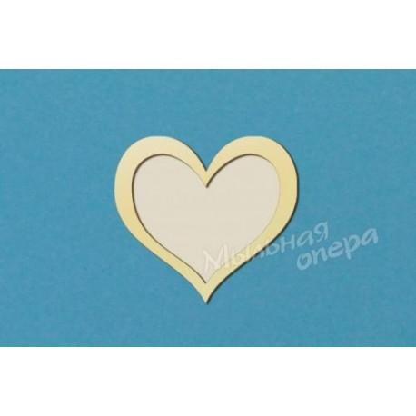 Фоторамка Сердце 1, размеры , 30х33 см