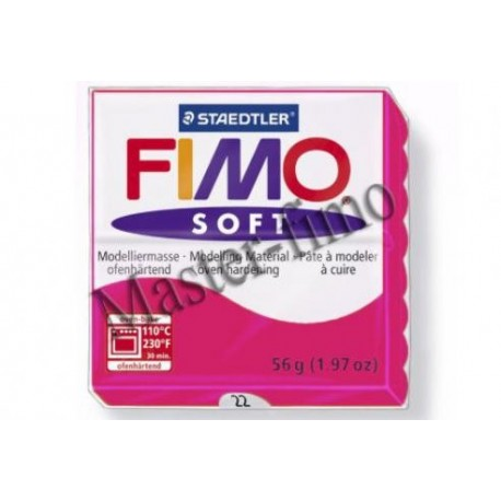 Полимерная глина Fimo soft малиновая