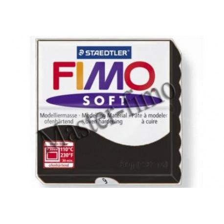 Полимерная глина Fimo soft чёрная