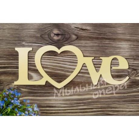 Фоторамка Love, размеры 15х40 см