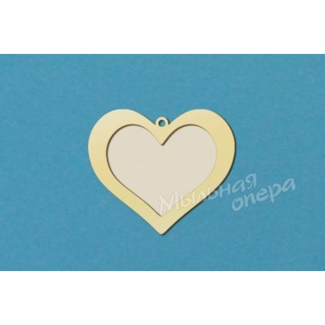 Фоторамка сердечко, размеры 6х7 и 7х8 см