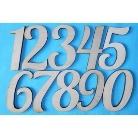 Заготовка для декупажа Комплект цифр начертания Лобстер