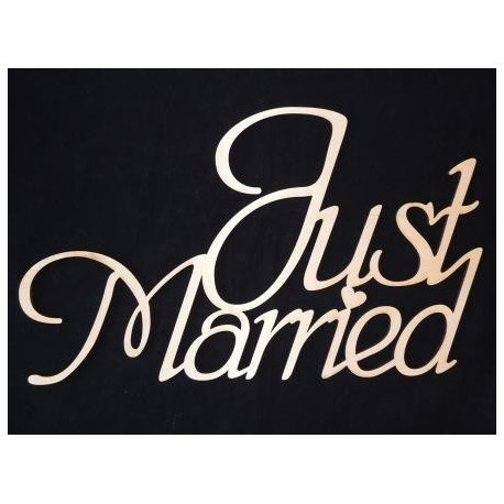 Заготовка для декупажа Надпись Just married 4