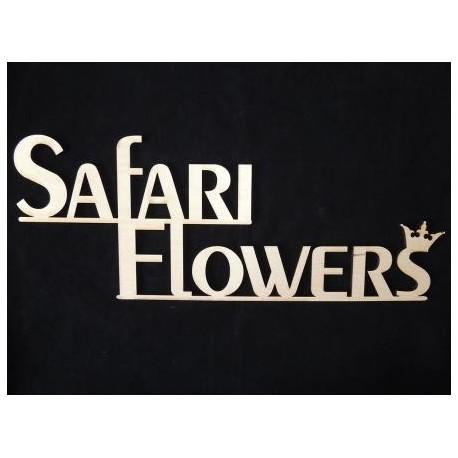 Заготовка для декупажа Надпись Safari Flowers