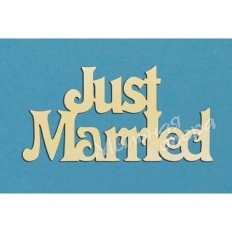 Заготовка для декупажа Надпись Just married 2