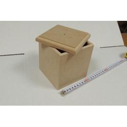 Заготовка для декупажа короб для сыпучих продуктов малый, размеры 12х12х14 см МДФ