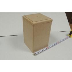 Заготовка для декупажа короб для сыпучих продуктов средний, размеры 12х12х19 см, МДФ