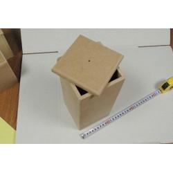 Заготовка для декупажа короб для сыпучих продуктов большой 12х12х27 см МДФ