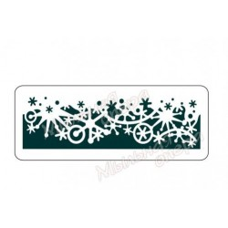 Трафарет Снежинки 5, размеры 10х25 см