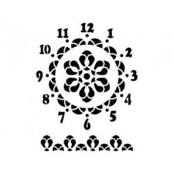 Трафарет Циферблат часов 3, размеры 22х30 см