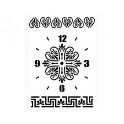Трафарет Циферблат часов 4, 22х30 см