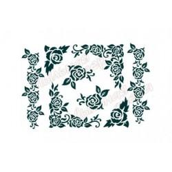 Трафарет Розы 1, размеры 22х30 см