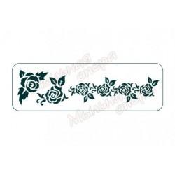 Трафарет Розы 2, размеры 10х30 см