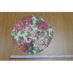 Салфетка FL018 Розы на зеленом