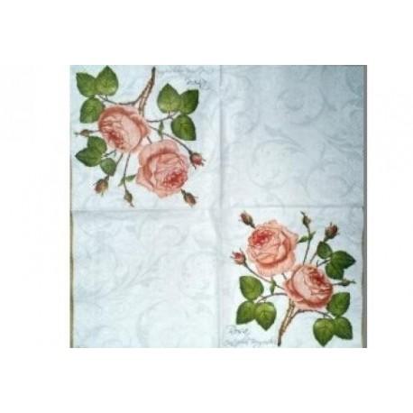 Салфетка FL001 Две розы