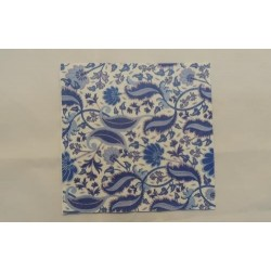 Салфетка FL005 Синие цветы