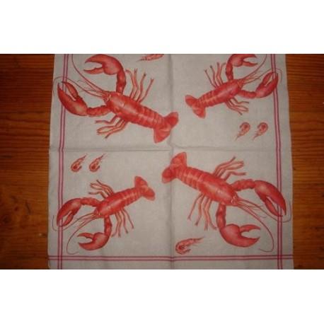 Салфетка AN001 Красные раки
