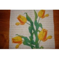Салфетка FL014 Желтые тюльпаны