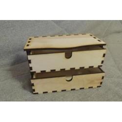 Заготовка для декупажа Комод 2 ящика, размеры 22*13*10 см