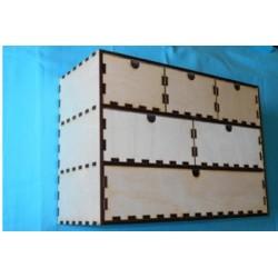 Заготовка для декупажа Комод 6 ящиков, размеры 42*18*30 см